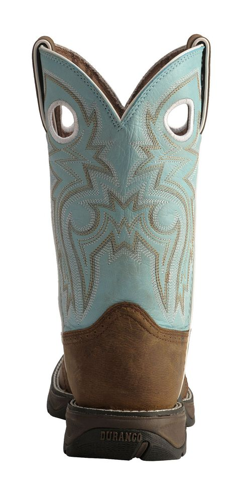 Durango Lady Rebel Blue Saddle Cowgirl Boots - Square Toe, Bay Apache, hi-res