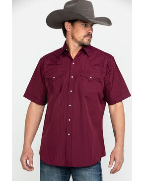 Ely Cattleman Men's Assorted Pencil Stripe Short Sleeve Western Shirt , Multi, hi-res