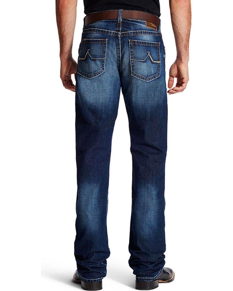 Ariat Men's M4 Austin Dark Wash Bootcut Jeans, Indigo, hi-res
