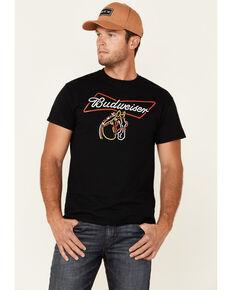Brew City Beer Gear Men's Black Clydesdale Neon Sign Graphic Short Sleeve T-Shirt , Black, hi-res