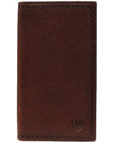 Ariat Peforated Edge Rodeo Wallet, Copper, hi-res