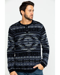 Moonshine Spirit Men's Durango Aztec Print Sweater, Black, hi-res