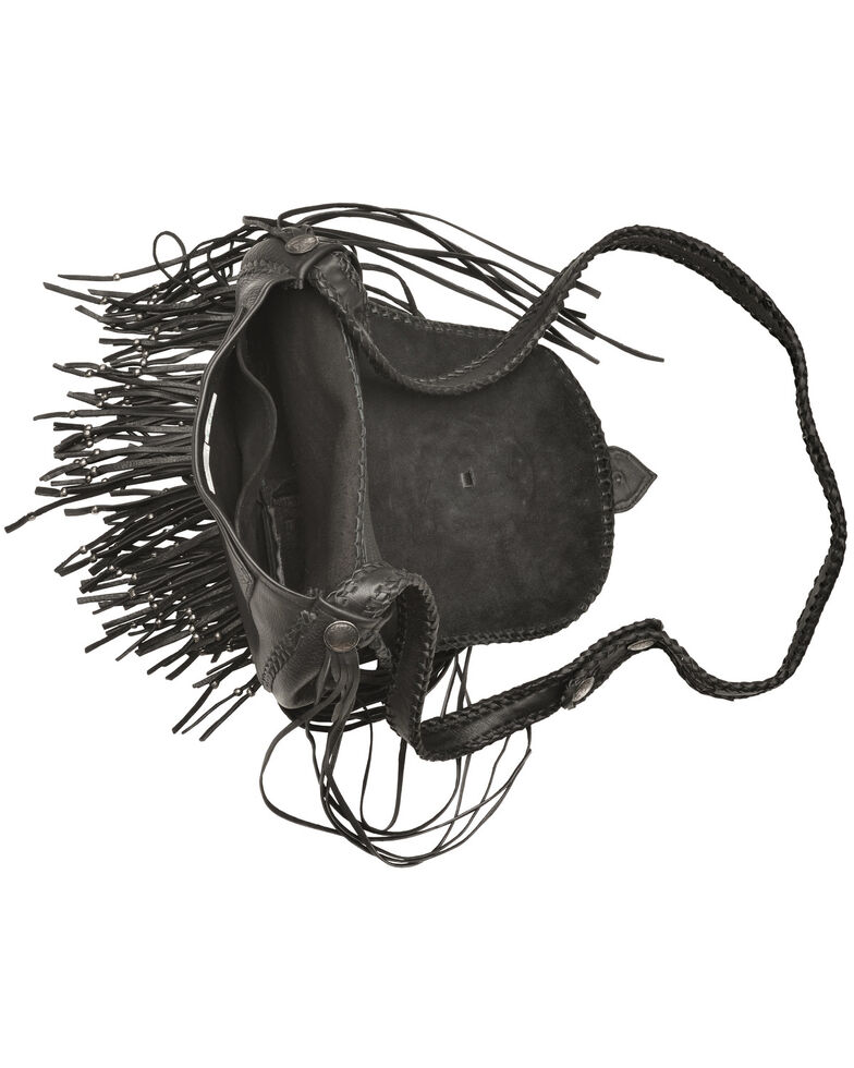 Kobler Leather Concho and Flutted Beads Bag, , hi-res