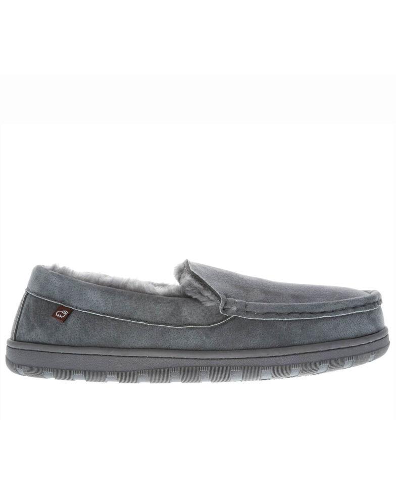 Lamo Men's Harrison Slippers - Moc Toe, Charcoal, hi-res