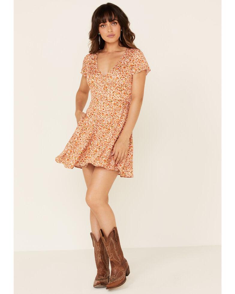 Idyllwind Women's Willow Floral Dress, Peach, hi-res