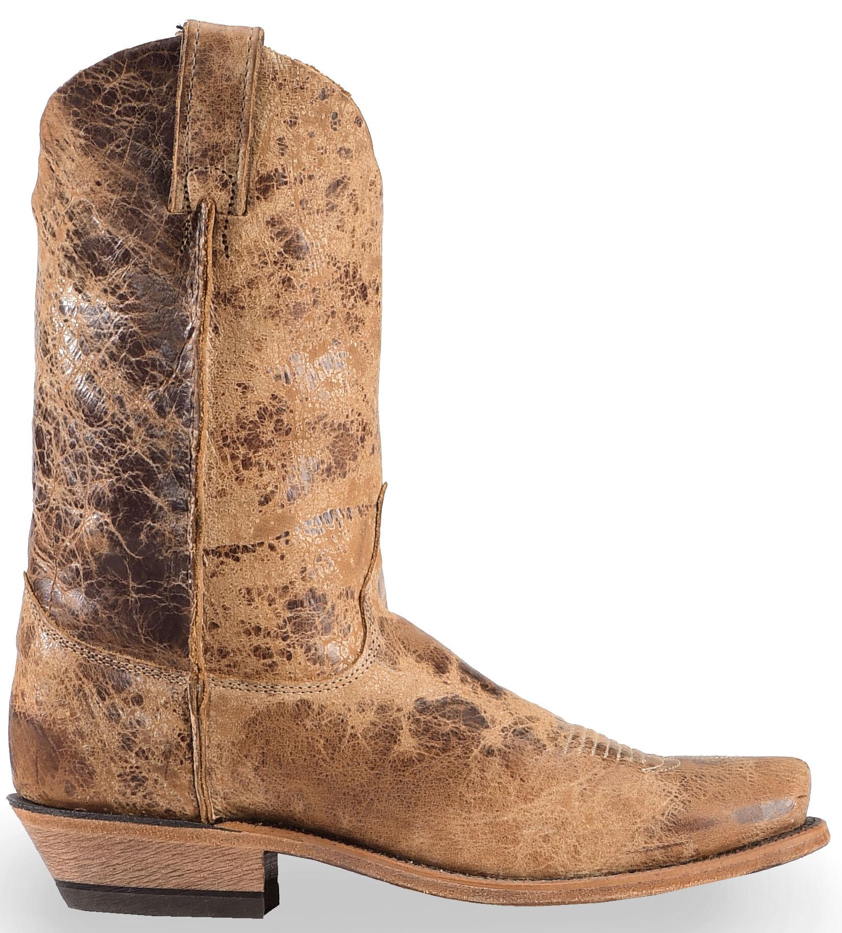 Justin Men\u0027s Distressed Cowboy Boots , Square Toe