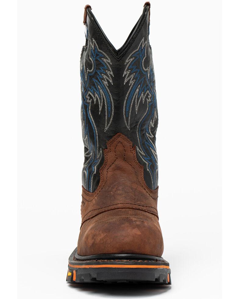 Cody James Men's Decimator Western Work Boots - Composite Toe, Brown, hi-res