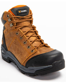 Hawx® Men's Lace To Toe Hiker Boots - Round Toe, Brown, hi-res