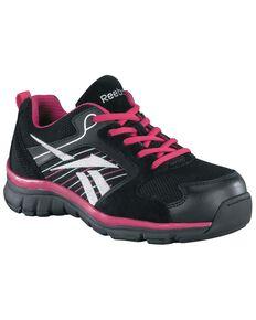 Reebok Women's Anomar Work Shoes - Composite Toe, Black, hi-res
