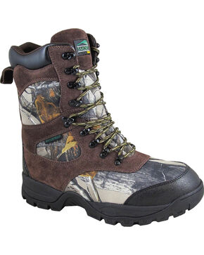 "Smoky Mountain Men's Camo Sportsman 9"" Waterproof Hunting Boots - Round Toe , Camouflage, hi-res"