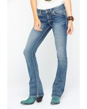 Shyanne Women's Floral Pocket Bootcut Jeans , Blue, hi-res