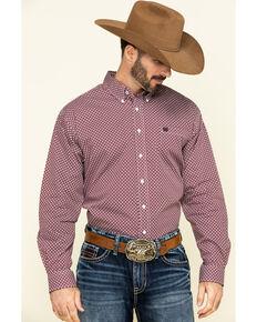 Cinch Men's Multi Geo Print Weave Long Sleeve Western Shirt , Multi, hi-res
