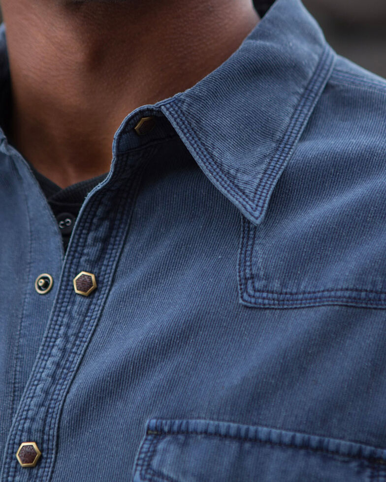 Ryan Michael Men's Bedford Corduroy Shirt , Blue, hi-res