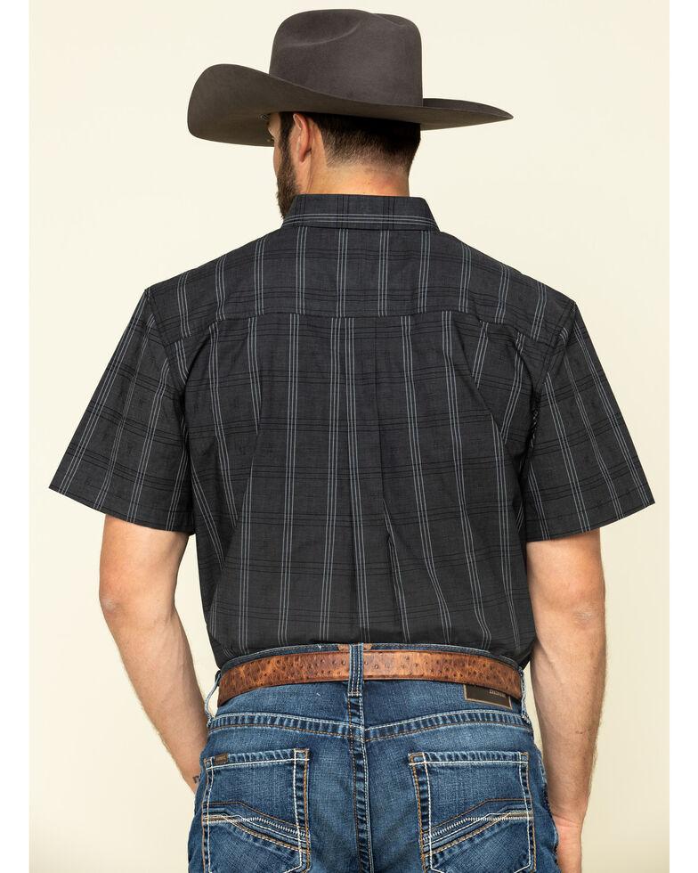 Cody James Core Men's Make It Pay Large Plaid Short Sleeve Western Shirt - Tall , Black, hi-res