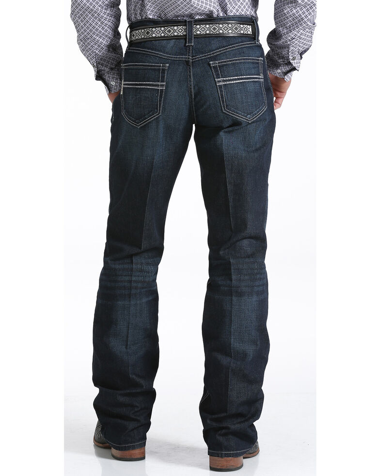 Cinch Men's Carter 2.4 Relaxed Bootcut Performance Jeans, Indigo, hi-res