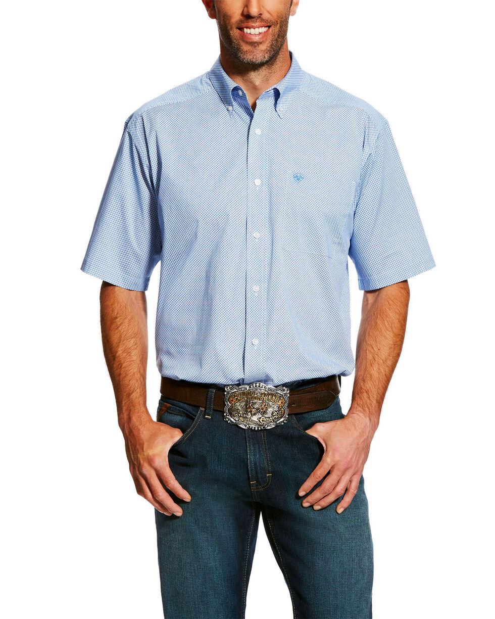 Ariat Men's Edlin Stretch Print Short Sleeve Western Shirt - Big & Tall , White, hi-res