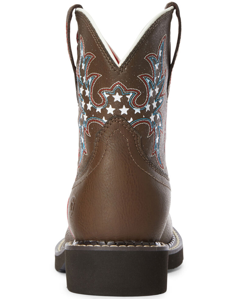 Ariat Girls' Cowpoke Fatbaby Western Boots - Round Toe, Brown, hi-res