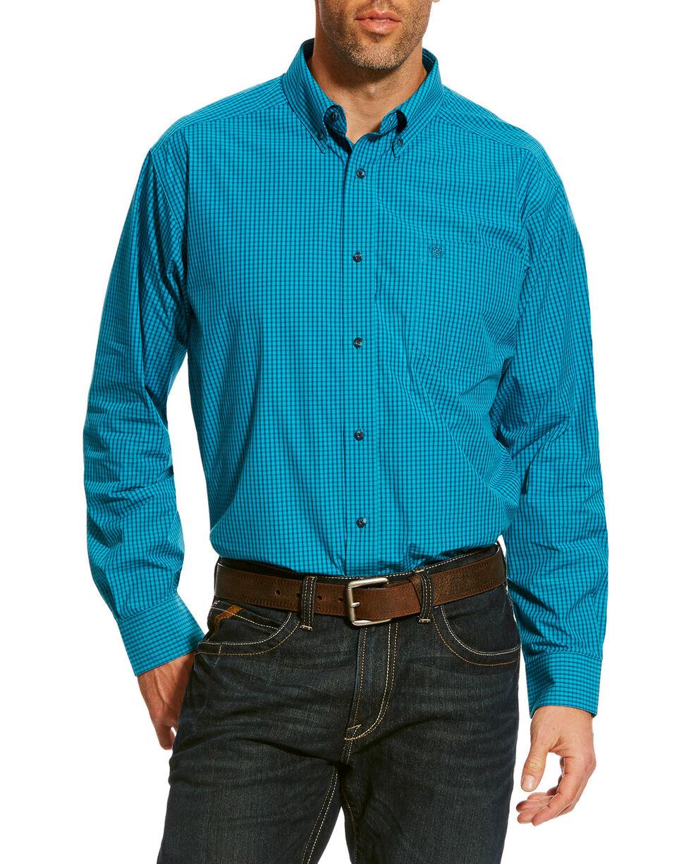 Ariat Men's Blue Balencia Long Sleeve Shirt , Blue, hi-res