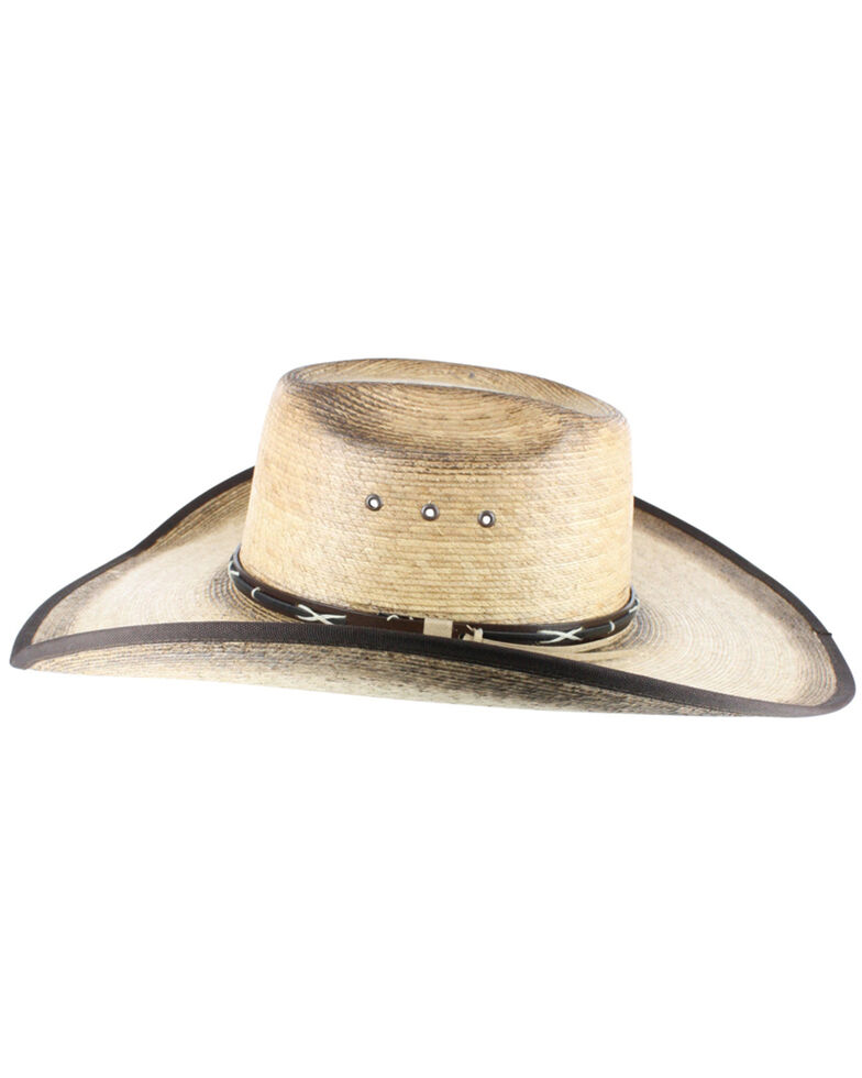 Cody James Men's Palm Leaf Cowboy Hat, Natural, hi-res