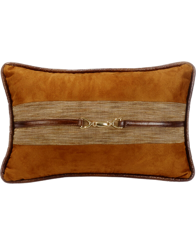 HiEnd Accent Multi Highland Lodge Suede Buckle Pillow, Multi, hi-res