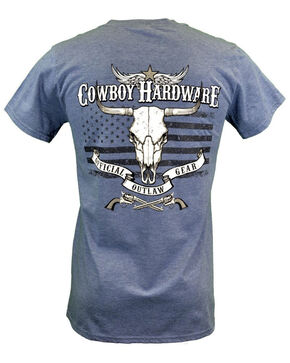 Cowboy Hardware Men's Official Outlaw Graphic T-Shirt , Grey, hi-res
