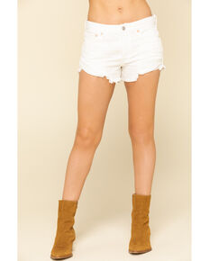 Free People Women's Ivory Loving Good Vibrations Shorts, Ivory, hi-res