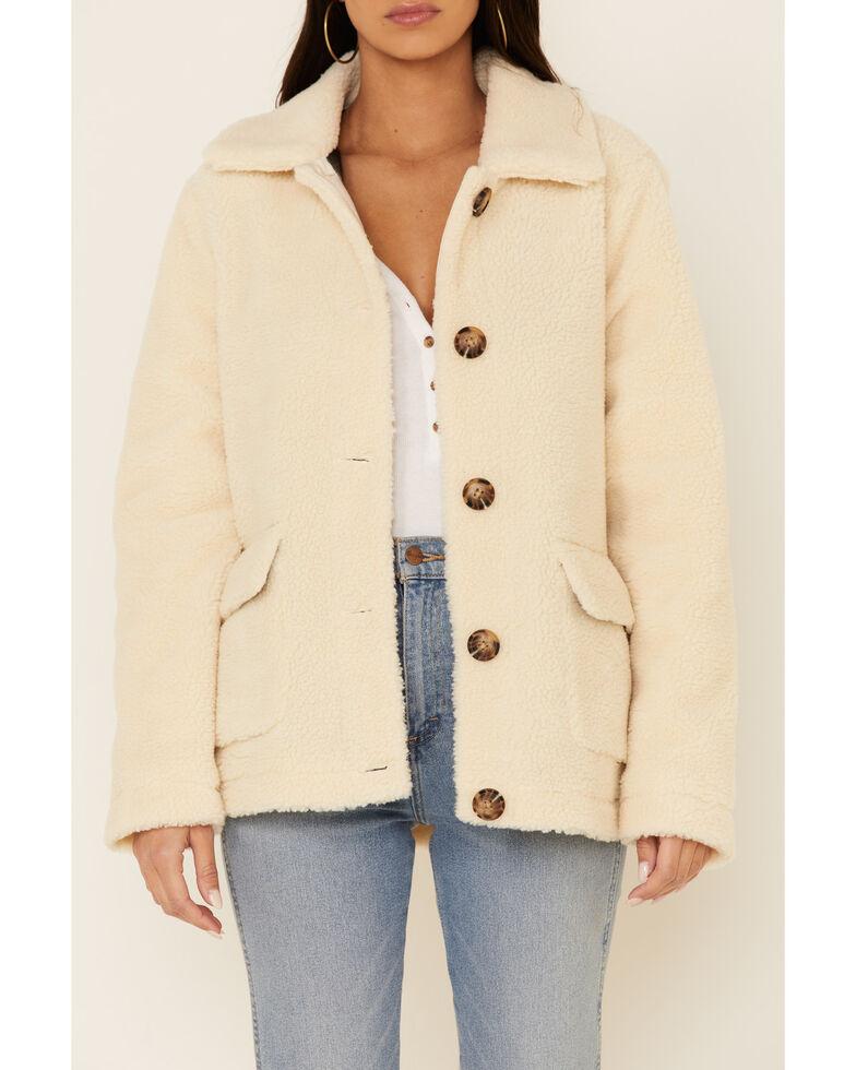 Pendleton Women's Ivory Berber Fleece Jacket , Ivory, hi-res