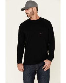 Ariat Men's Black Rebar Workman Back Graphic Long Sleeve Work Pocket T-Shirt , Black, hi-res