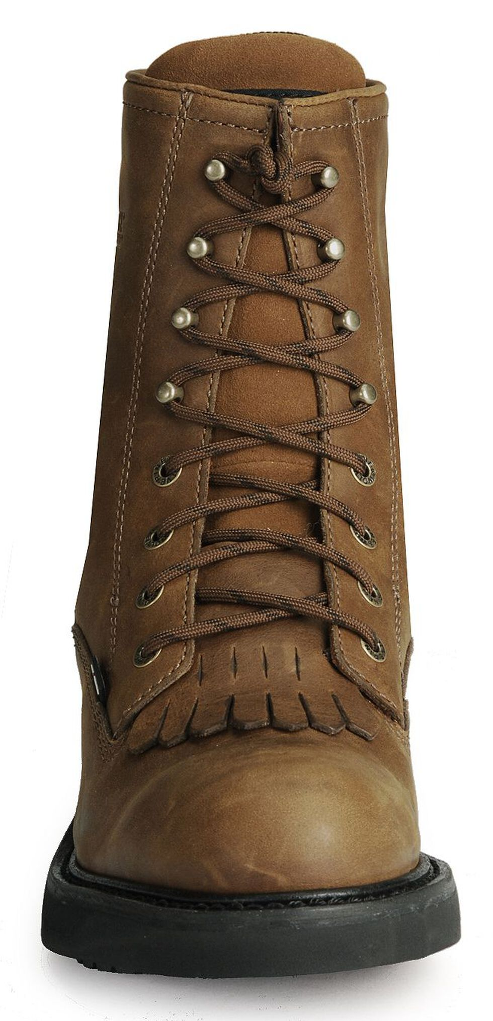 "Wolverine Ingham DuraShocks Lace-Up 8"" Work Boots - Round Toe, Dark Brown, hi-res"