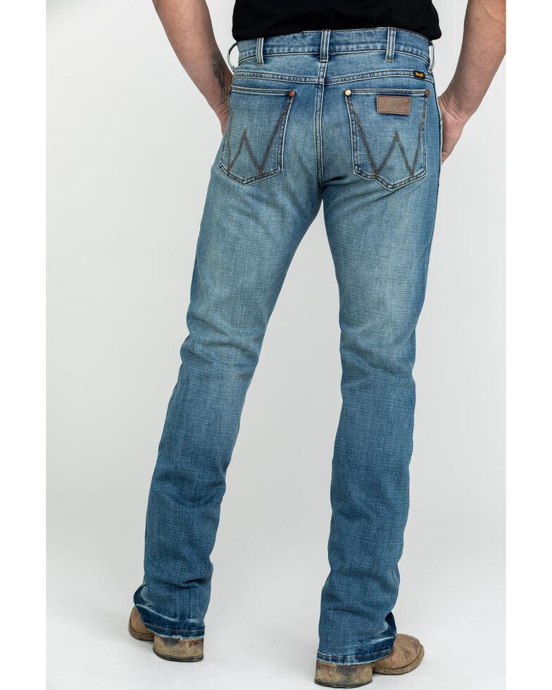 Wrangler Retro Men's Premium Saddler Slim Bootcut Jeans , Blue, hi-res