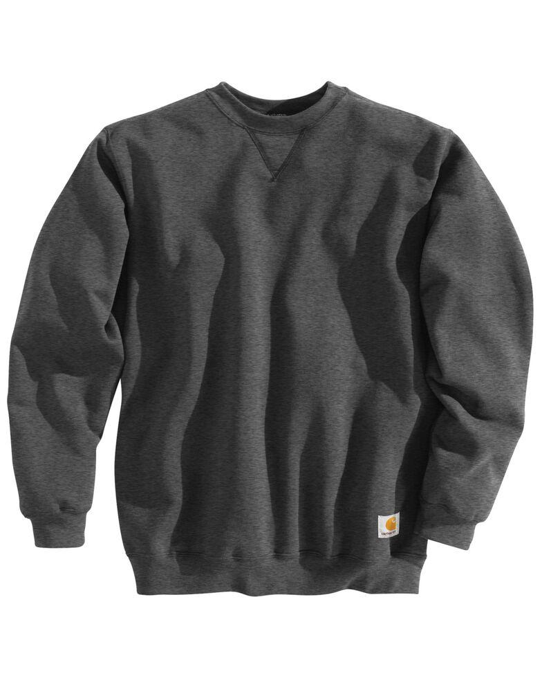 Carhartt Midweight Crew Neck Sweatshirt - Big & Tall, Charcoal, hi-res