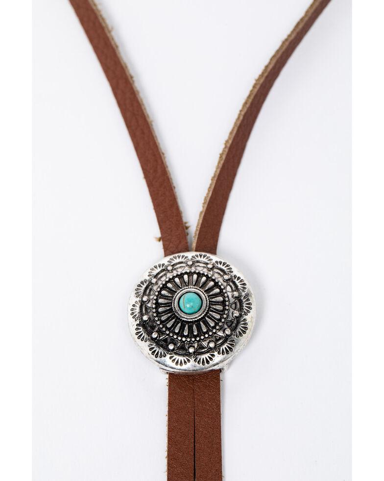 Shyanne Women's Isla Jane 2 Concho Bolo Necklace Set, Silver, hi-res