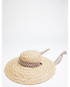 Shyanne Women's Natural Natasha Raffia Straw Western Hat , Natural, hi-res