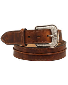 "Ariat 1 1/2"" Center Bump Belt, Aged Bark, hi-res"