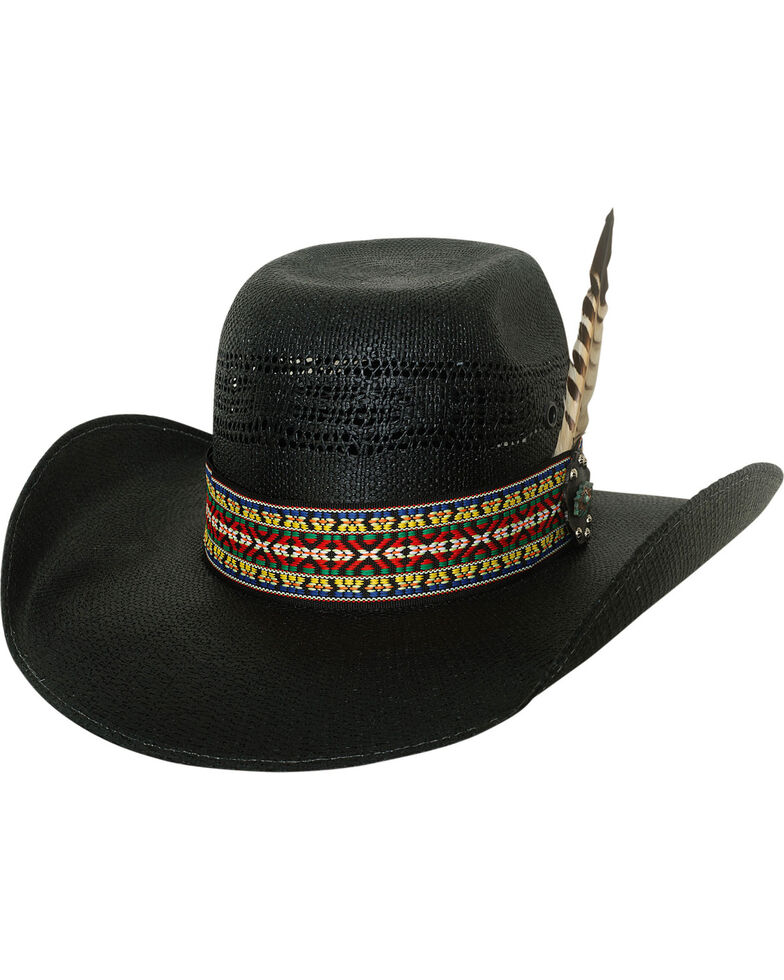5f3d36fa59dfc Bullhide Men s Rag Roper Black Straw Western Hat - Country Outfitter