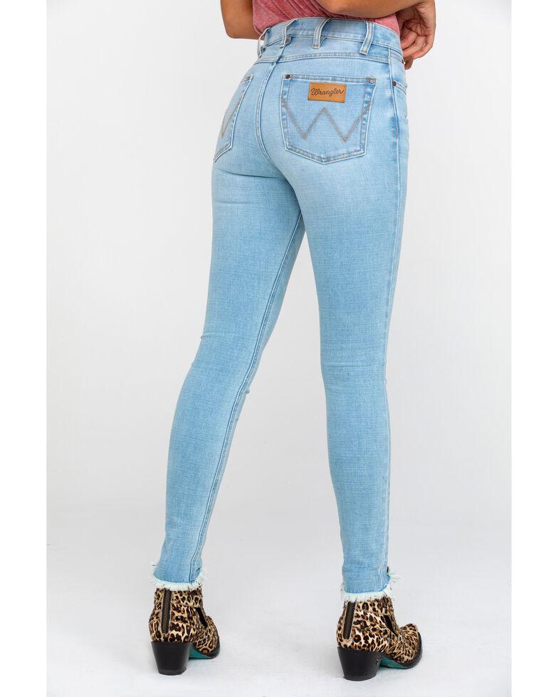 Wrangler Women's Heritage High Rise Skinny Jeans, Light Blue, hi-res