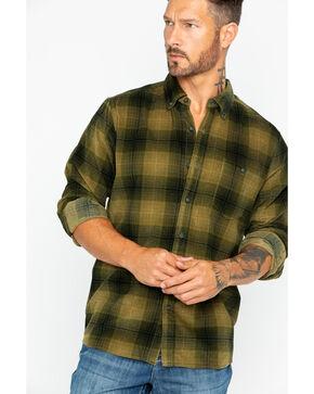 North River Men's Large Plaid Corduroy Shirt , Olive, hi-res