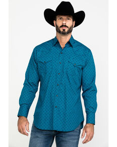 Ely Cattleman Men's Assorted Multi Ditzy Print Long Sleeve Western Shirt , Multi, hi-res