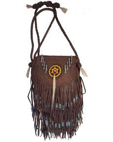 Kobler Leather Women's Dark Rossette Crossbody Bag, Dark Brown, hi-res