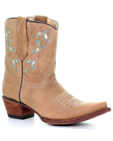 84b33359f6c8 Corral Women's Turquoise Embroidery Western Boots - Snip Toe