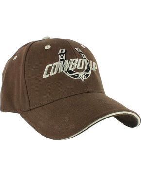 Cowboy Up Men's Brown Basic Logo Baseball Cap , Brown, hi-res