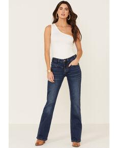Rock & Roll Denim Women's Medium Wash V-Front Seam Riding Jeans , Blue, hi-res