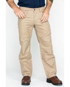 Hawx® Men's Stretch Canvas Utility Work Pants - Big , Beige/khaki, hi-res