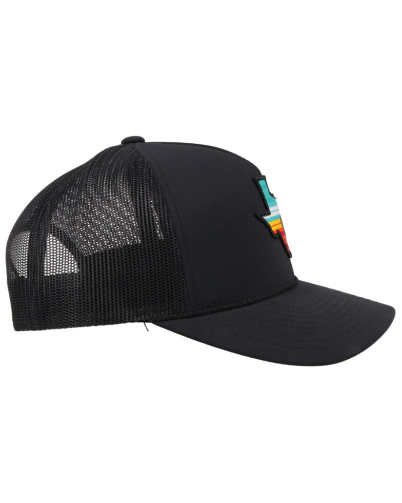 Hooey Men's Black Tejas Texas Patch Mesh Ball Cap, Black, hi-res