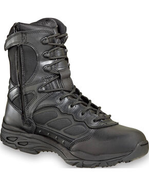 "Thorogood Men's 8"" ASR Ultra Light Side Zip Tactical Boots , Black, hi-res"