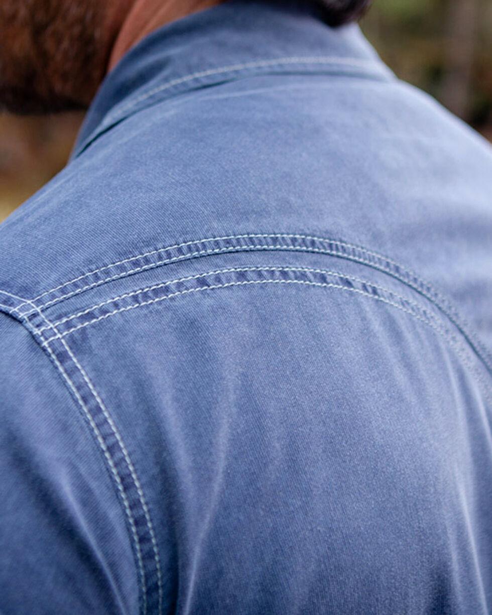 Ryan Michael Men's Textured Stripe Shirt , Dark Blue, hi-res