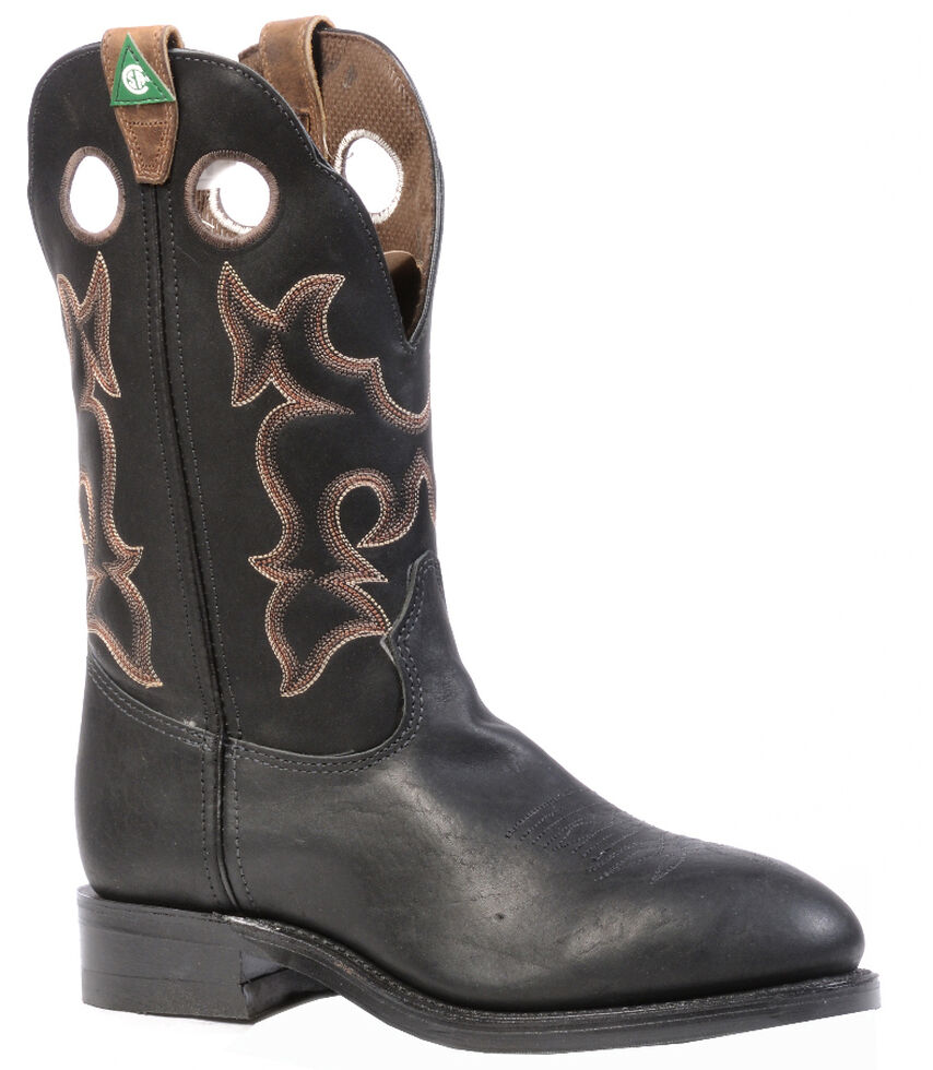 Boulet Everest Black Western Work Boots - Steel Toe, Black, hi-res