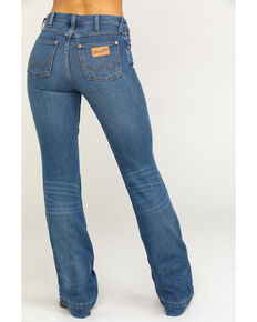 Wrangler Women's Heritage Midtown Exaggerated Boot Jeans, Medium Blue, hi-res