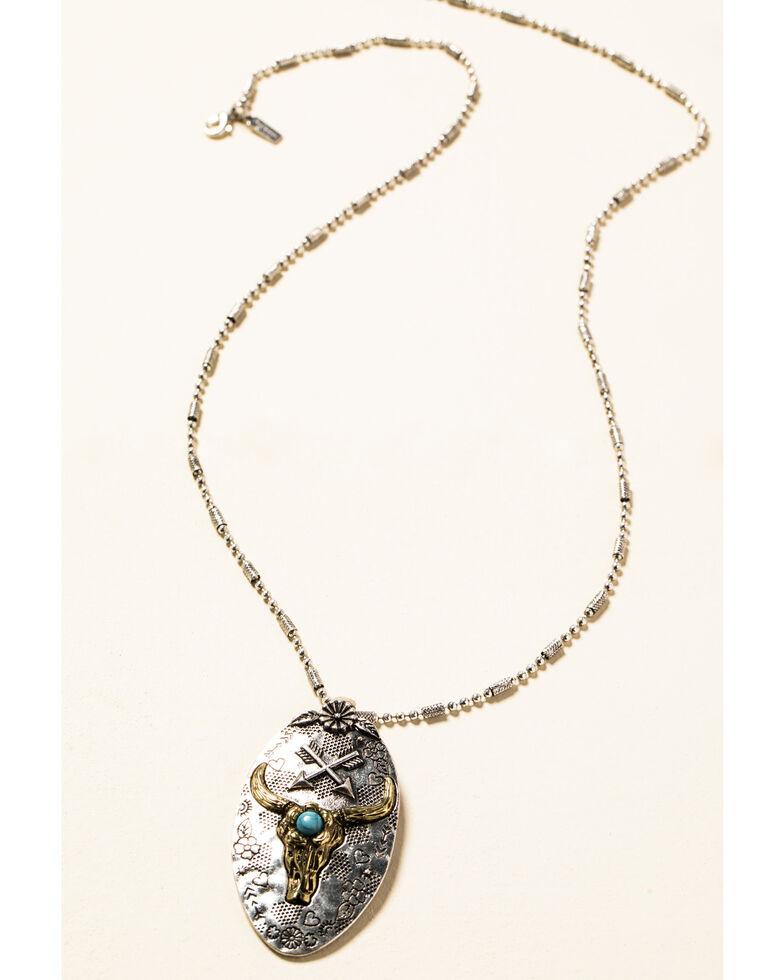 Shyanne Women's In The Oasis Longhorn Pendant Jewelry Set , , hi-res
