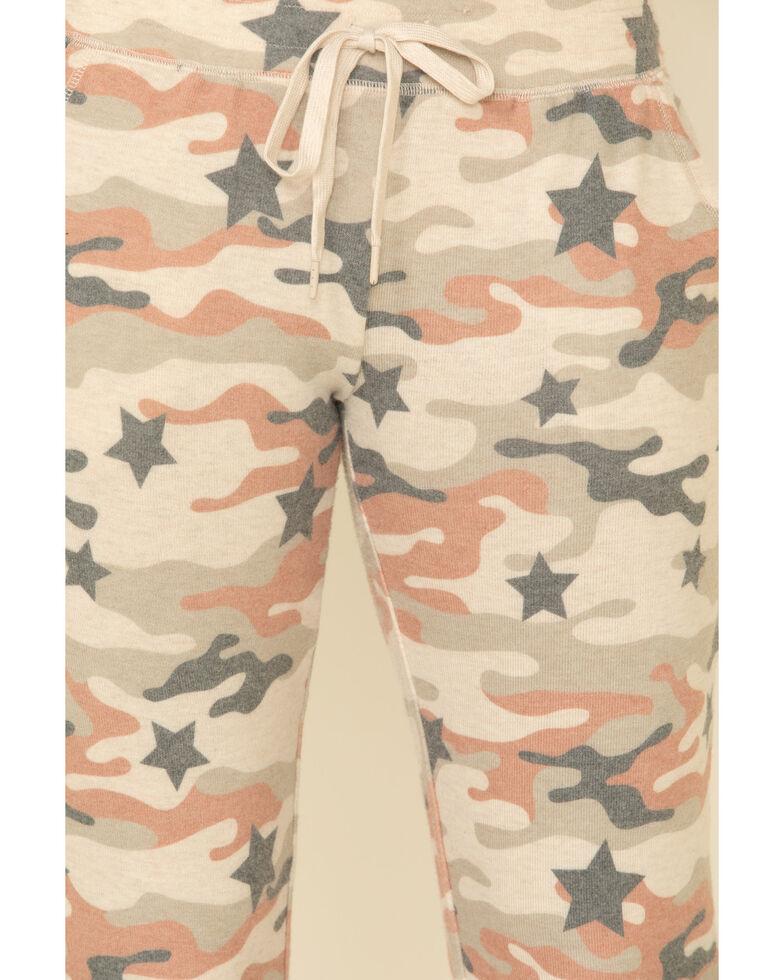 PJ Salvage Women's Camo Sweatpants, Oatmeal, hi-res